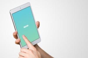 手持iPad Mini设备演示样机模板 iPad Mini Studio Mockups插图6