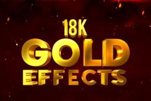 10款3D金色金属字体效果PSD分层模板 3D Metal & Gold Effects插图5