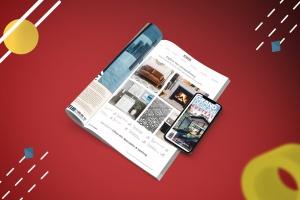 杂志印刷设计/杂志APP设计图预览样机样机 Abstract Magazine App Mouckup插图4