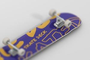 极限运动滑板图案设计样机 Skateboard Mockup插图3