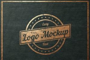 平面logo木板背景纹理样机 Logo Flat Mockup插图3