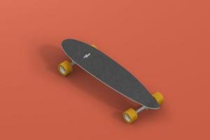 长滑板手绘图案设计样机模板 Skateboard Longboard Mockup插图8