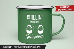 圣诞雪人毛衣T恤印花手绘图案设计素材 Christmas Snowman Sweater T-Shirt Xmas Retro Party插图3