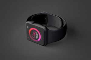 Apple Watch智能手表黏土样机模板03 Clay Apple Watch Mockup 03插图4