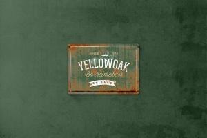 复古做旧生锈金属板风格Logo设计效果图样机 Vintage Rusty  Metal Plate  Mockup插图3