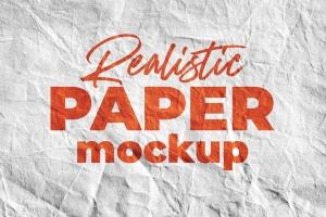 Logo设计印刷效果图纸张样机模板v1 SGM – Paper Logo Mockup.01插图1