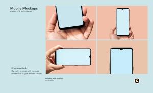 滴水屏智能手机屏幕预览样机模板 Mobile Mockups插图2