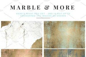 大理石&烫金锡纸纹理 Marble & More Backgrounds插图7