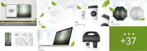 41合1品牌VI视觉设计/Logo设计效果图样机素材包 Branding Items Mock-up for guidelines. 41 PSD插图2