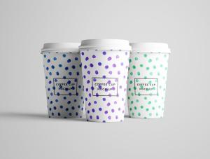 7个咖啡纸杯设计图PSD样机模板 7 PSD Coffee Cup Mockups插图5