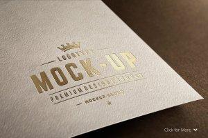 Logo设计纸张印刷展示样机 Logo Mock-Up Set插图2