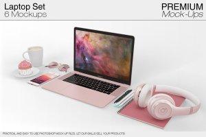 苹果MacBook Pro笔记本电脑样机展示模型mockups插图1