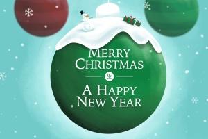 创意圣诞装饰球设计PSD分层模板 Christmas Ball插图2