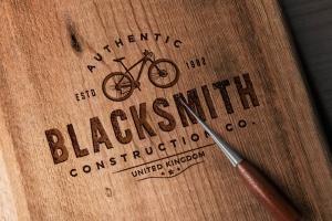 木刻/实木雕刻Logo效果图样机模板 Wood Logo Mockups插图3
