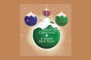 创意圣诞装饰球设计PSD分层模板 Christmas Ball插图4