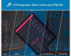 阿拉伯文APP应用iPhone XS和iPad Pro样机模板 Arabic iPhone XS & iPad Pro插图8