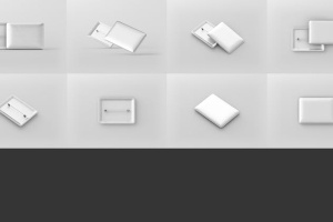 矩形徽章扣子样机模板 Rectangle Badge Button Mockup插图11