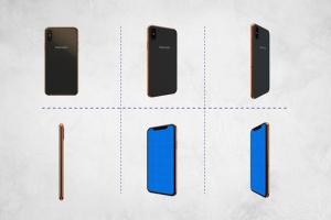360度全方位 iPhone X 样机模板 iPhone X Kit Mockup插图5