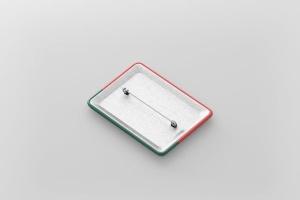 矩形徽章扣子样机模板 Rectangle Badge Button Mockup插图5