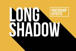 经典长阴影效果PS文本样式 Long Shadow Photoshop Effects插图1
