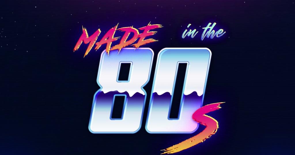 80年代复古怀旧特效PS字体样式 80s Retro – Photoshop Layer Styles插图