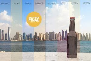 小瓶啤酒瓶外观设计样机模板 Stone Floor Beer Mockup插图5
