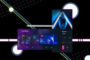 酷黑背景三星智能手机Note 10多角度屏幕预览样机模板 Neon Note 10 MockUp插图7