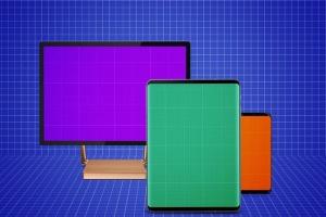 跨平台设计项目展示样机合集 Responsive Screens Mockup插图10