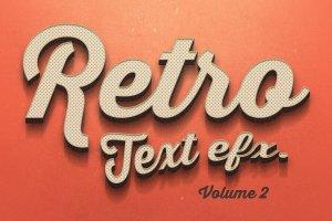 复古文本图层 样机v2 Vintage Text Effects Vol.2插图1