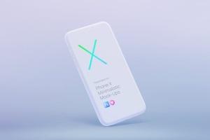 极简主义iPhone X样机模板 Phone X Minimalistic Mock-Ups插图12