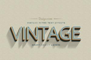 14个复古风格立体特效PS字体样式 14 Vintage Retro Text Effects插图3
