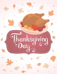 感恩节金色烤火鸡矢量图形设计素材 Thanksgiving golden roasted turkey插图3