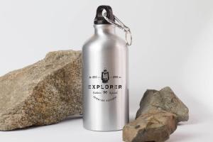 钢本色运动水杯样机展示模板 Sport Bottle Mock Up插图1