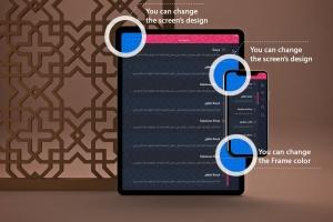 阿拉伯文APP应用iPhone XS和iPad Pro样机模板 Arabic iPhone XS & iPad Pro插图2