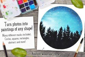 水彩插画效果PS图层样式 Watercolor Photo Effect Pro插图4