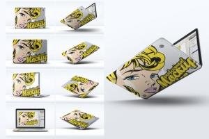 笔记本外观贴纸艺术样机模板 Laptop Body Mock-Up插图2