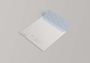 方形企业信封设计样机模板 Square Envelope Mockup插图7