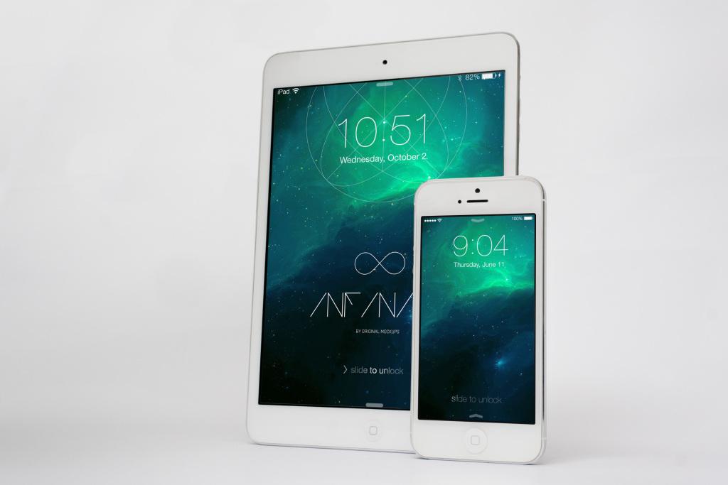 经典老款iPhone&iPad移动设备Web&APP界面设计样机v2 iPhone & iPad Mockup 2插图