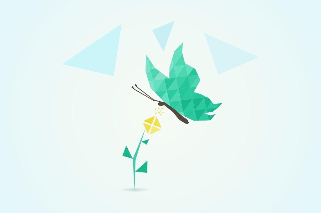 抽象手绘蝴蝶插画3 – Abstract the butterfly3插图