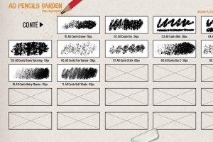 超级ps铅笔笔刷大合集 The Pencils Garden插图7