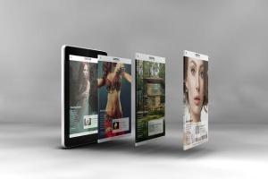 3D平板电脑屏幕网站设计演示样机 3D Tablet Screen Mockups插图2