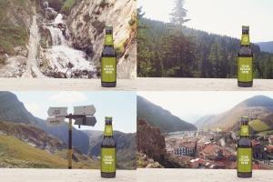 小瓶啤酒瓶外观设计样机模板 Stone Floor Beer Mockup插图4