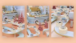 3D建模圣诞节主题概念工厂场景PNG素材 Christmas Factory插图8