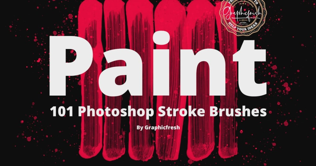 101个油画/绘画画笔笔刷合集 101 Photoshop Paint Stroke Brushes插图