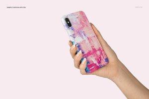 逼真的iPhone X塑料材质手机壳样机展示模型mockups插图10