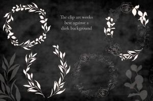 腮红色水彩手绘叶子图案剪贴画PNG素材 Blush Foliage Clip Art Bundle插图3