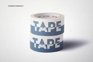 纸胶带外观图案设计样机 Paper Duct Tape Mockup插图6