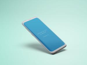 三星S9手机屏幕设计预览样机 Samsung S9 Phone Mockup插图3