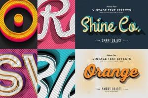 经典复古文本图层样式v4 Vintage Text Effects Vol.4插图5