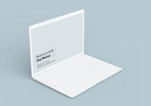 2019款MacBook Air超极本屏幕预览样机模板 Clay Macbook Air Mockup 1.0插图3